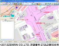ゼンリン住宅地図を表示