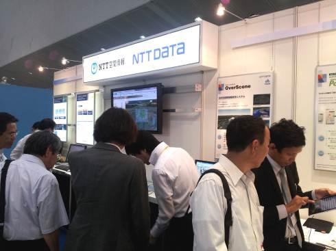 NTTデータブース